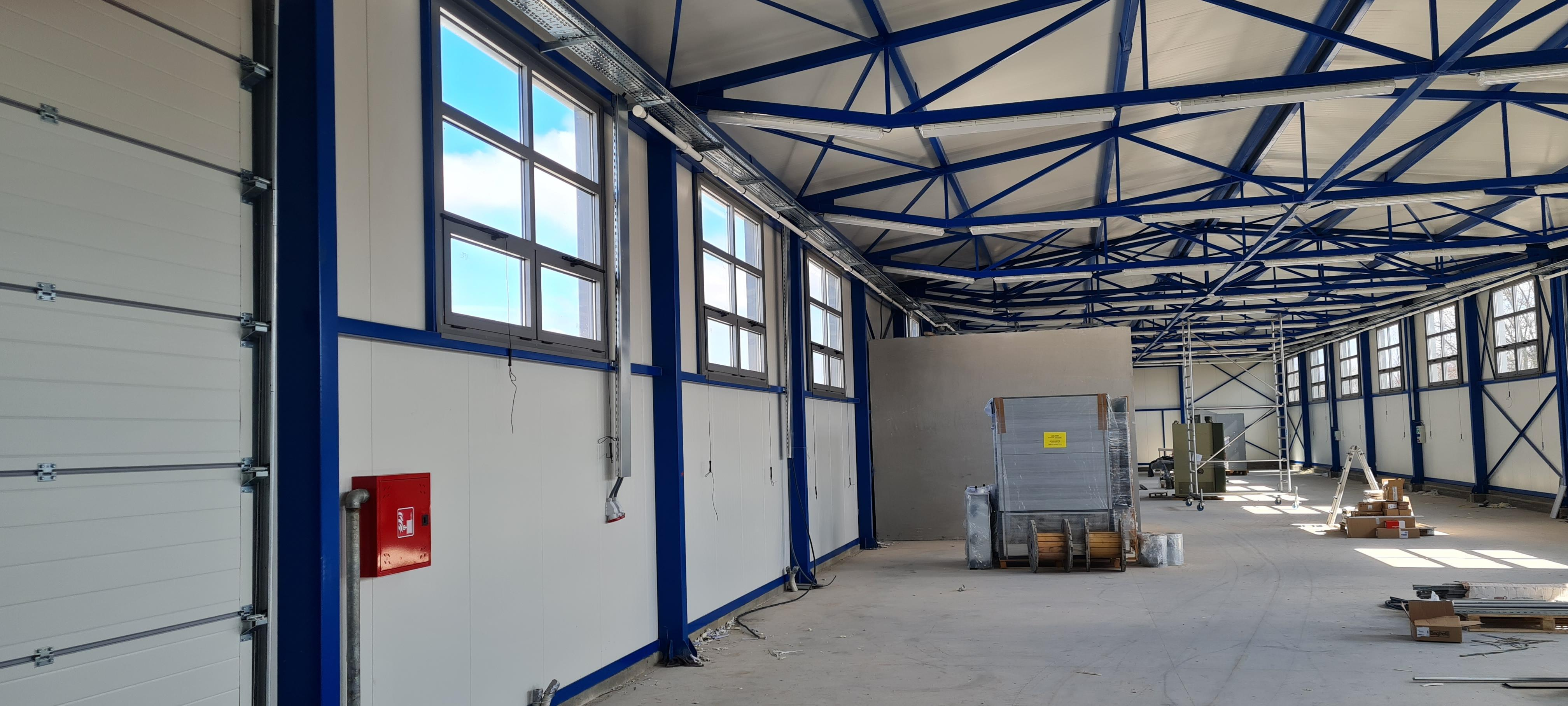 GRP Centar - Proizvodna hala - PVC prozori - Unutrašnji izgled iz drugog ugla